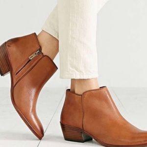 Sam Edelman Petty Cognac Leather Ankle Boots Sz 9